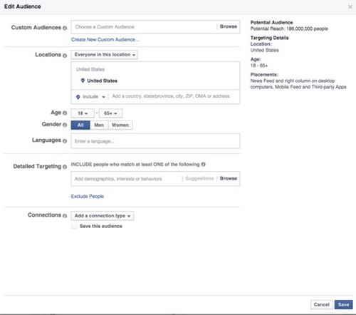 Nhắm mục tiêu chi tiết trên Facebook - 2
