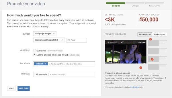 huong dan cach quang cao tren youtube 2 min - Hướng dẫn chạy quảng cáo youtube hiệu quả