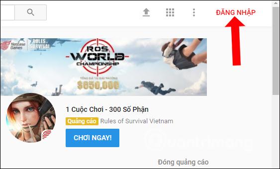 Đăng nhập tài khoản Youtube