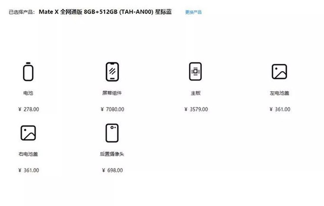 Chi phi sua man hinh Huawei Mate X ngang 1 chiec iPhone 11 Pro hinh anh 2