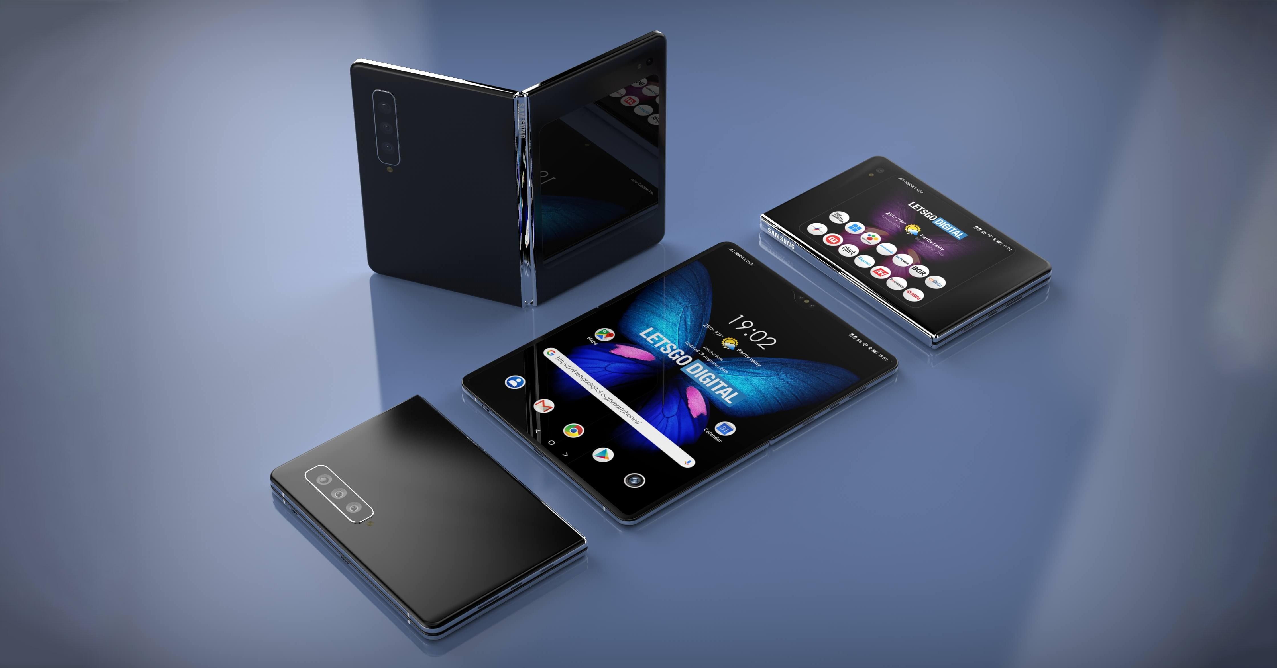 Galaxy Fold 2 sẽ có thiết kế dạng vỏ sò, màn hình 6.7 inch, bản lề ...