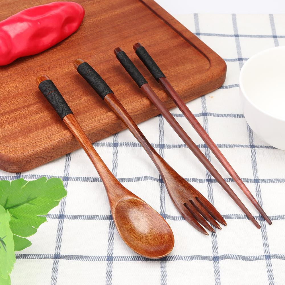 Set dụng cụ đũa muỗng nĩa bằng gỗ dùng ăn uống tiện dụng | Shopee ...
