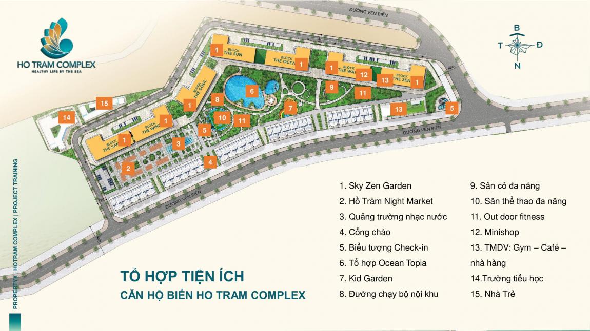 tiện ích dự án căn hộ hồ tràm complex