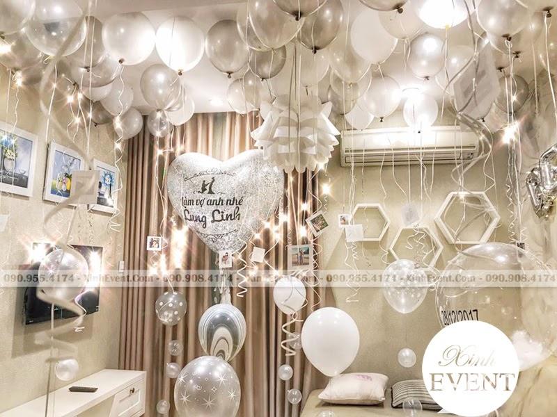 Trang trí phòng ngủ sinh nhật lung linh cho người yêu bạn