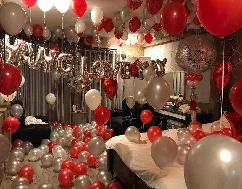 Trang trí phòng sinh nhật tạo bất ngờ và lãng mạn
