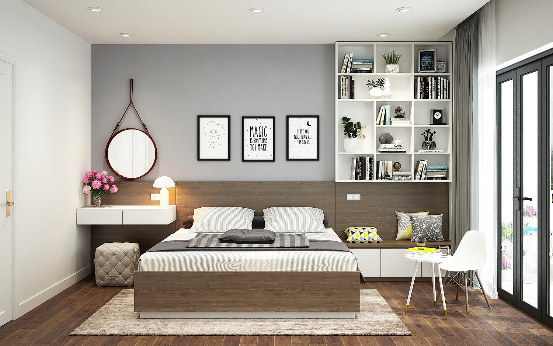 Ý tưởng thiết kế nội thất phòng ngủ diện tích 15m² với tổng chi phí 20  triệu đồng | Báo dân sinh