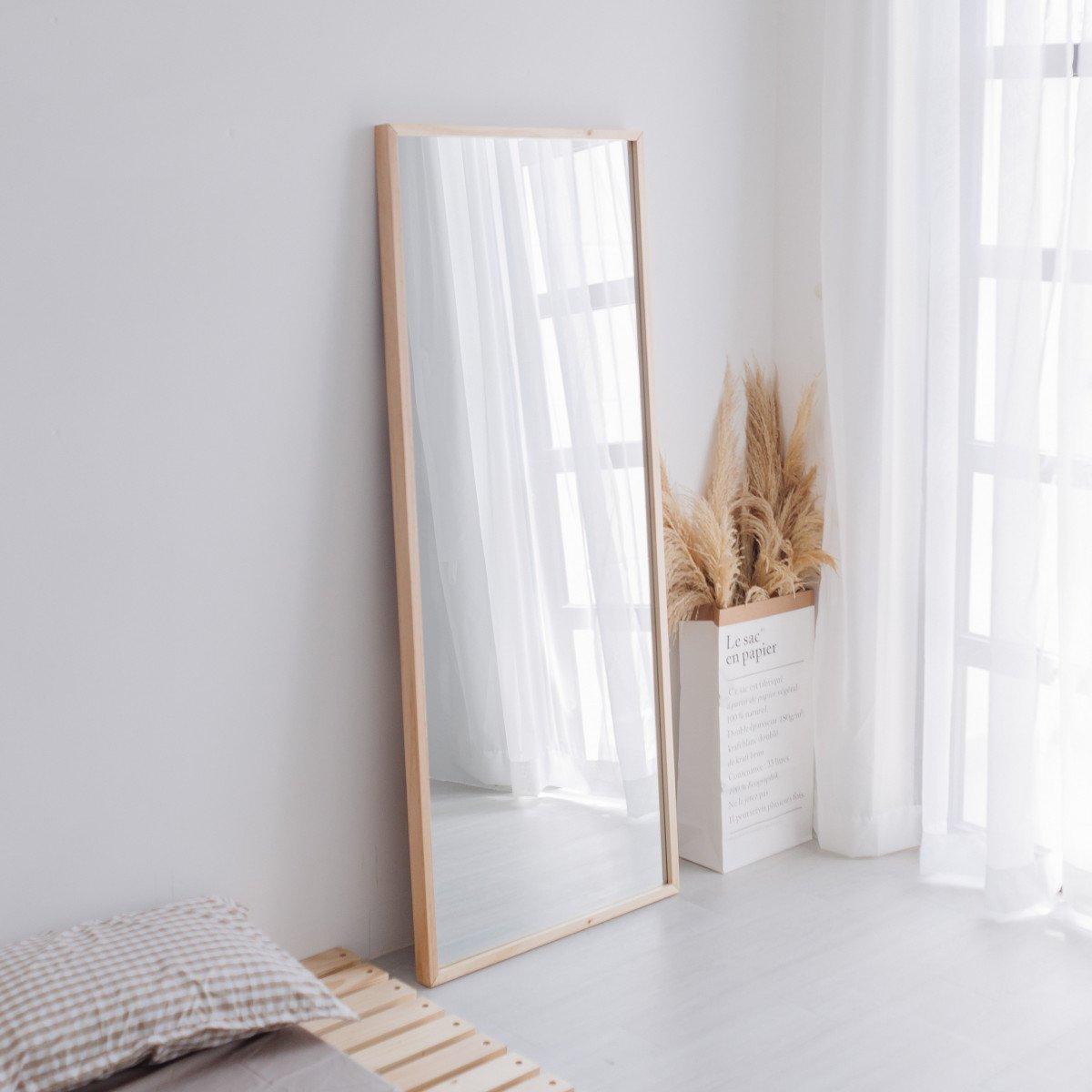 Gương Đứng Soi Toàn Thân Khung Gỗ OCHU - Mirror L - Natural giá tốt - 5335    Fitinvn