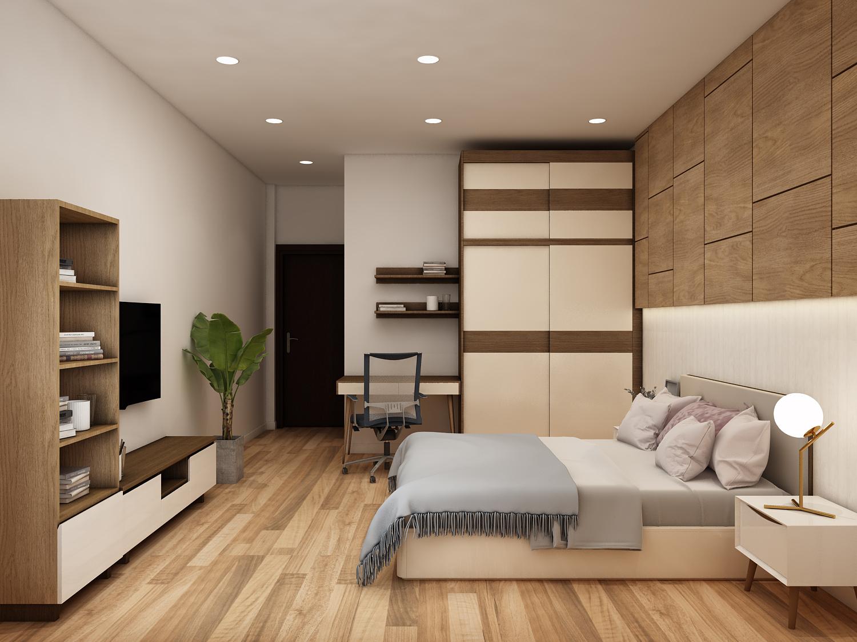 Thiết kế nội thất phòng ngủ hiện đại trọn gói, giá rẻ tại Amer